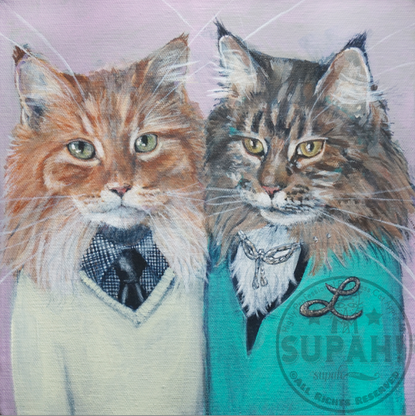 Calvin and Laverne, Maine Coon Cats