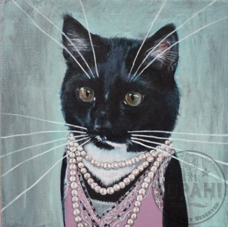 Ebby, a Highly Professional Flapper Business Cat