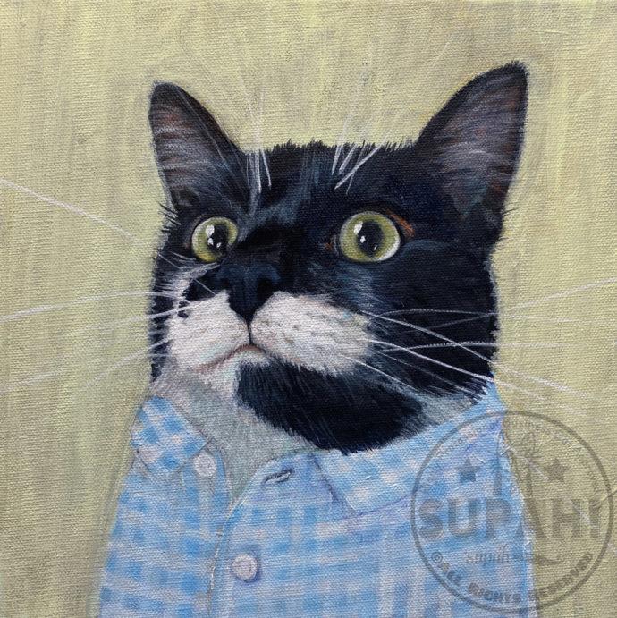 Dot tuxedo cat