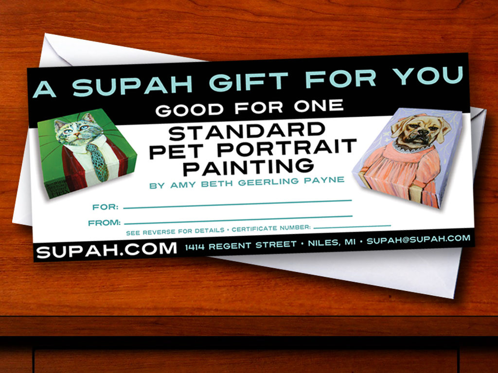 Gift Certificates for gifting a portrait!