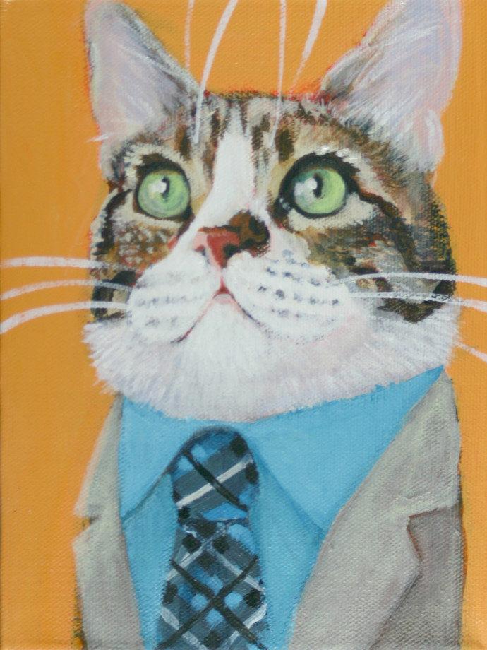 Riley Tabby Cat Portrait