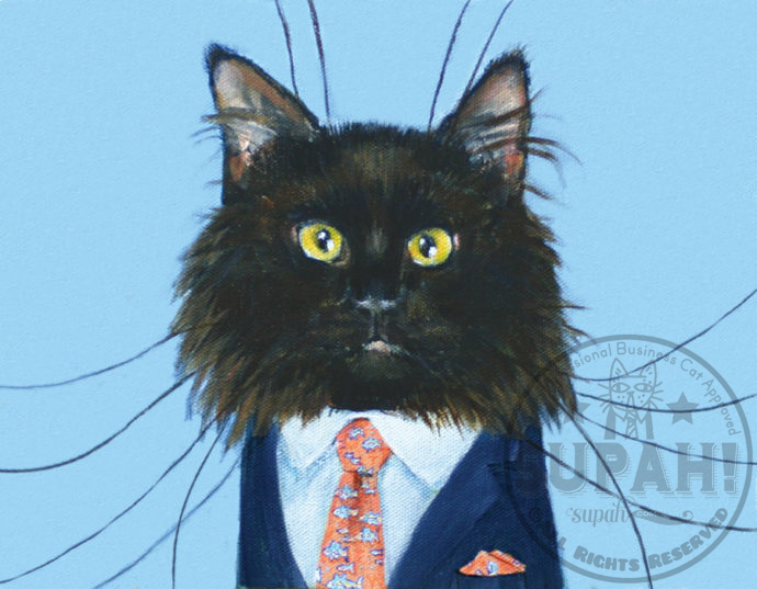 winston a highly professional business cat